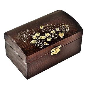 4 Stück Schatullen gold Kästchen 1,6 x 1,3 cm Scharnier für Boxen 0,75€//1S