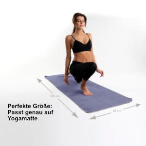 Nirvanashape Hygienic Yoga Towel Non Slip Hot Yoga Towel With Non Slip Nubs For Yoga Mat 185 X 63 Cm Grey Amazon De Kuche Haushalt