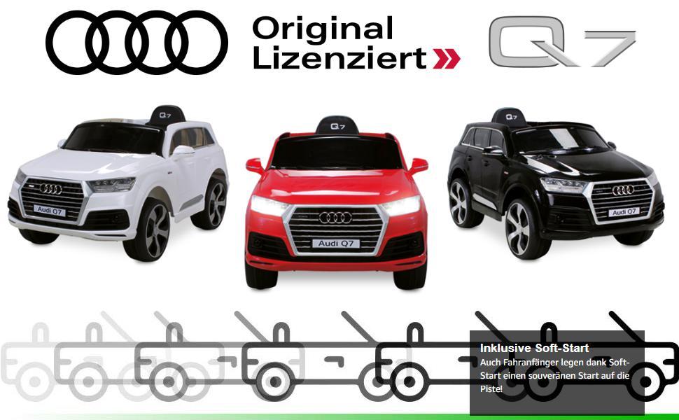 Actionbikes Motors Kinder Elektroauto Audi Q7 Highdoor Lizenziert
