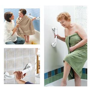 Handgreep antislip voor de badkamer.