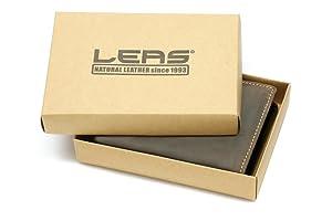 a38b1699e5c43a LEAS Herren und Damen Geldbörse mit Verschluss Geschenkbox Echt ...