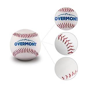 Overmont Baseball Training Ball Anfänger Baseballbälle Softball Weiß Bälle