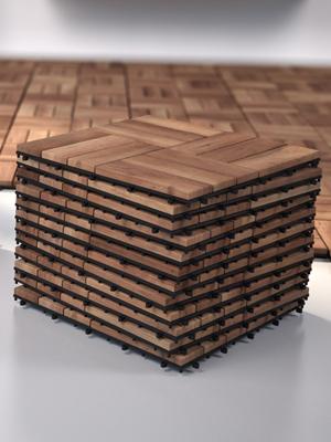 Holz Fliese Fliesen Akazie Terrasse Balkon