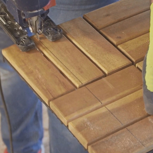 Fliesen Verlegung Akazie Holz Fliese