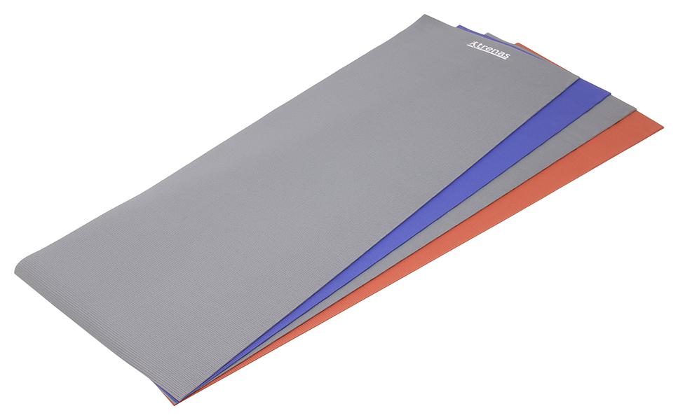 6 mm 4 mm Blau Grau Rot trenas Gymnastikmatte 173 x 60 cm Yogamatte