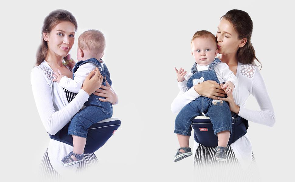Braun SONARIN Multifunktionaler Vorderer Hipseat Baby Carrier Babytrage