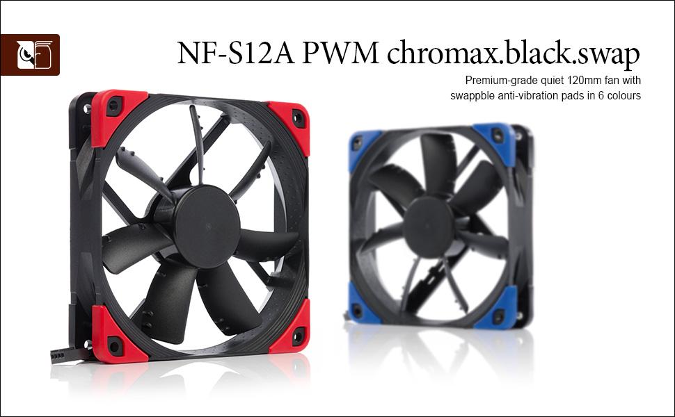 Noctua Nf S12a Pwm Chromax Black Swap Leiser Computer Zubehör