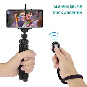 Deirdre Agnes Tragbare Stativhalterung Biegbarer Handyst/änder Faltbare Kamera Smartphone-Stativ