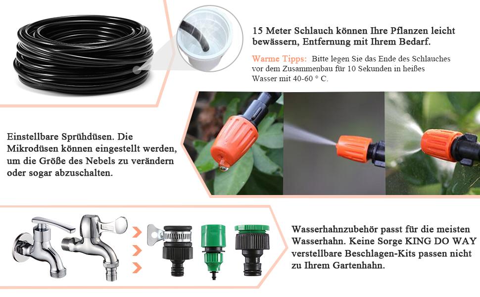 40 x Sprinkler Köpfe Düse /& T Stück verbindet für Garten Düsen Bewässerung