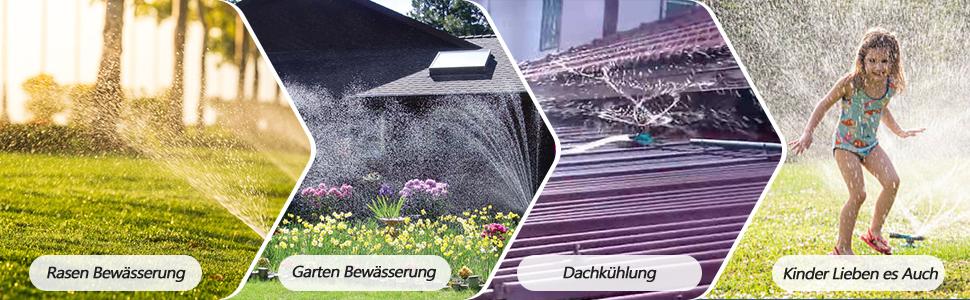 360 ° drehbarer Rasensprinkler Automatische Bewässerung von K0W1