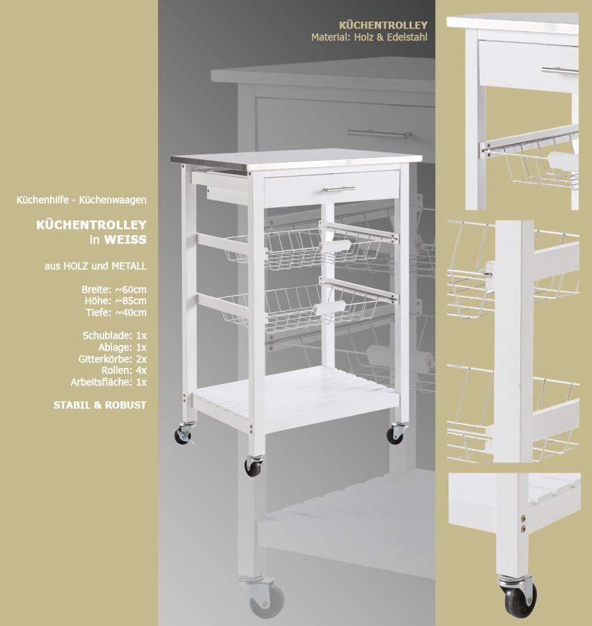 Küchenwagen #72 Teewagen Mit Einer Schublade Küchenschrank