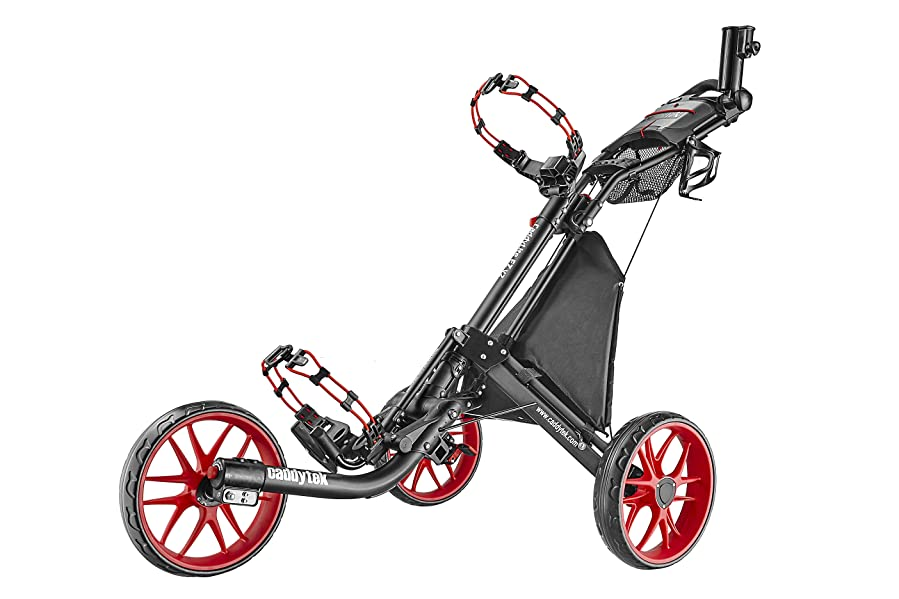 CaddyTek EZ V2 3-Rad Golftrolley Golfwagen Golfcaddy Pushtrolley ...