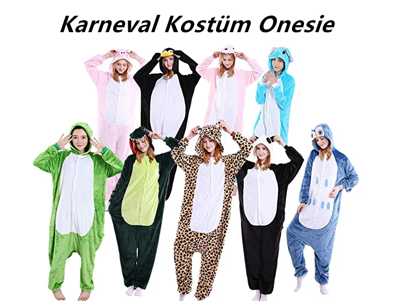 Lazlake Jumpsuit Tier Fasching Pyjama Kostum Onesie Overall
