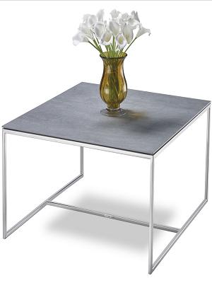 Massimilano Grau Couchtisch wohnzimmertisch mit Keramik-Tischplatte ...