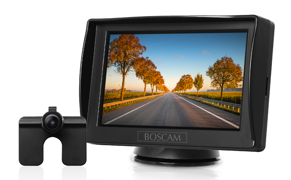 Schulbus 14.4 cm//4.3 Zoll Rear View Monitor und IP68 wasserdichte Kamera f/ür Auto Bus Anh/änger LKW BOSCAM K3 R/ückfahrkamera und Monitor Set Wired R/ückfahrkamera mit Stabiler Signal/übertragung