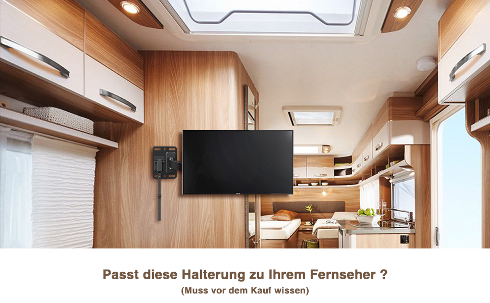 mounting dream wohnwagen tv wandhalterung f r rv amazon. Black Bedroom Furniture Sets. Home Design Ideas