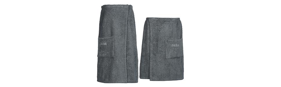 acc7a12ff6dddf Im Sortiment von myHomery werden auch passende Sauna-Kilts für Männer und  Frauen angeboten.