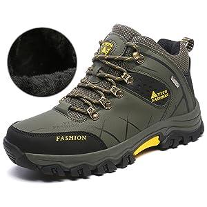 NEOKER Wanderschuhe Trekking Schuhe Herren Damen Sports Outdoor Hiking Sneaker Braun 47 YyLkVsK