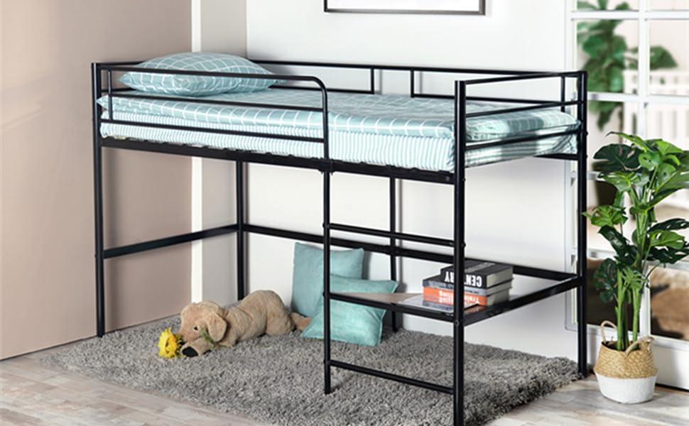 Etagenbett Erwachsene Metall : Amazon.de: aingoo etagenbett für loft mit seiteneingang metalbett