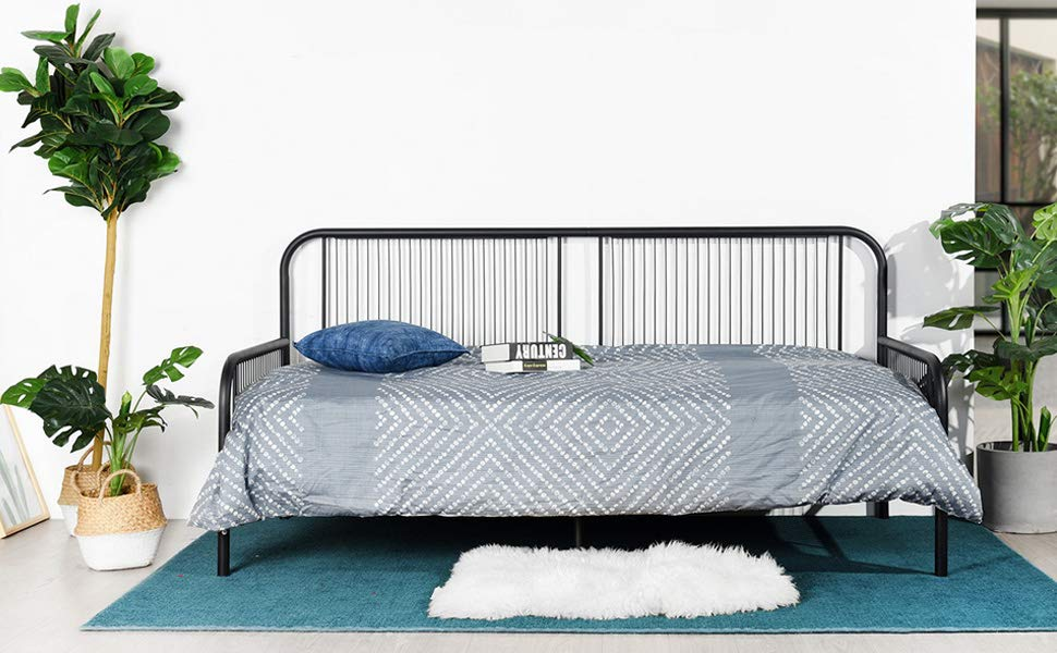 Amazon.de: Aingoo Tagesbett Daybed, Metallbett Bettgestell