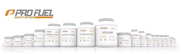 ProFuel Supplements und Nahrungsergänzung für Muskelaufbau Abnehmen Bodybuilding und Kraftsport