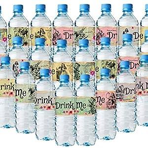Alice im Wunderland Flaschentücher Wasserflaschen-Etiketten verschiedene tolle Layouts