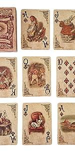 Alice im Wunderland-Spielkarten-Party-Requisiten