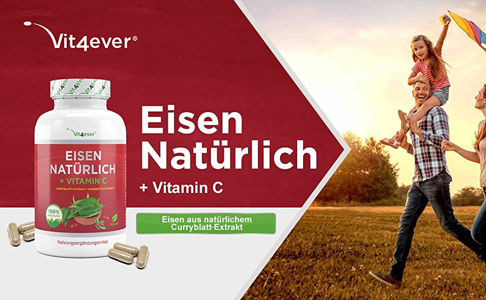 Eisen + Vitamin C Mineralstoffe und Spurenelemente Vitalstoffe