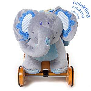 Kleinkind Schaukel Baby//Schaukeltier Musik//Schaukeltier Holz//Schaukelpferd Pl/üsch labebe Baby Schaukelpferd Holz mit R/äder 2-in-1 Schaukeltier Elefant Schaukelpferd Blau f/ür Baby 1-3 Jahre Alt