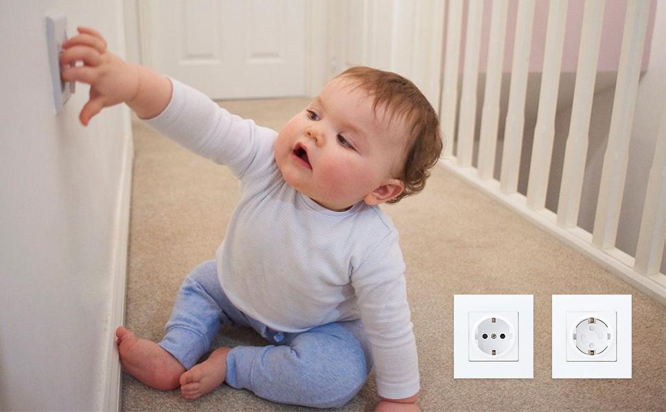 30 St/ück Steckdosensicherungen kindersicherung f/ür steckdose HWeggo Steckdosenschutz Baby