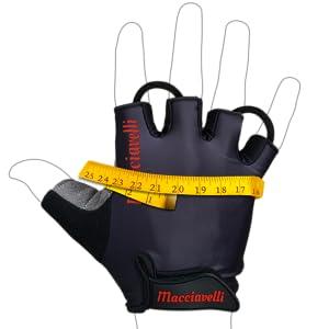 Größentabelle für Fahrrad Handschuhe