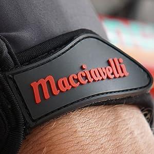 Fahradhandschuhe mit geprägtem macciavelli logo