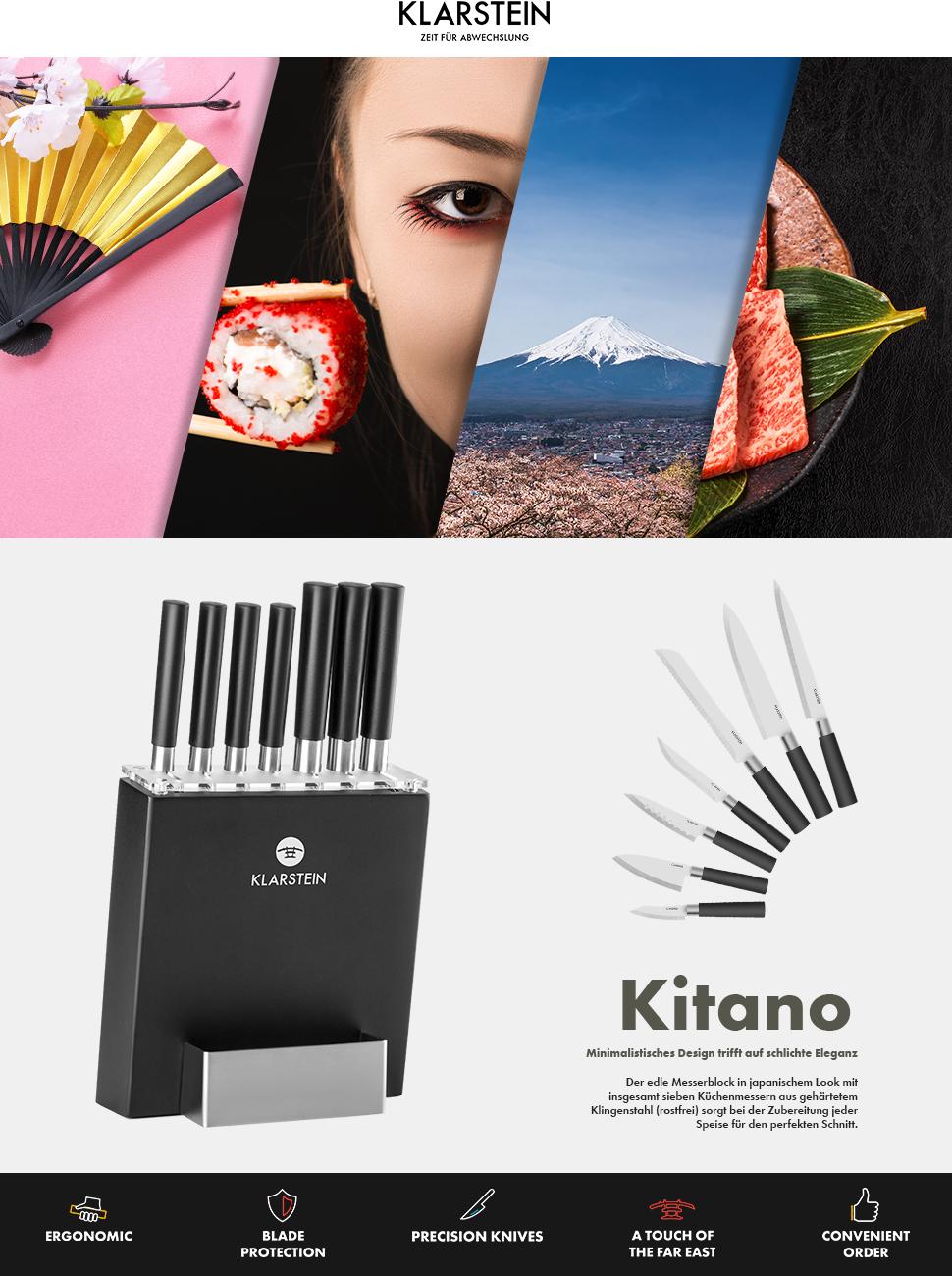 Mit Dem Kitano Messer Set Von Klarstein Kommt Selbst Bei Koch Anfängern  Echte Chefkoch Stimmung Auf. In Japanisch Angehauchtem, Edlem Design Holt  Das ...