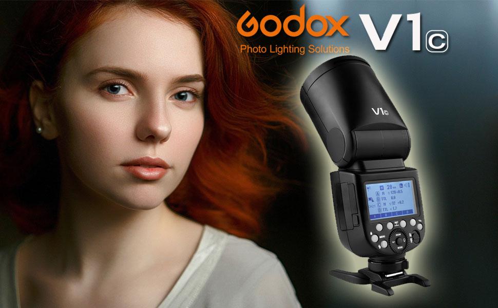Kamera & Foto Blitzgerte Godox V1-C Runder Kopf Kamera Blizt fr ...