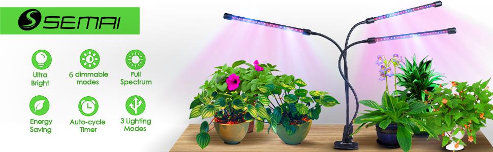 semai Pflanzenlampe LED 30W Pflanzenlicht Pflanzenleuchte