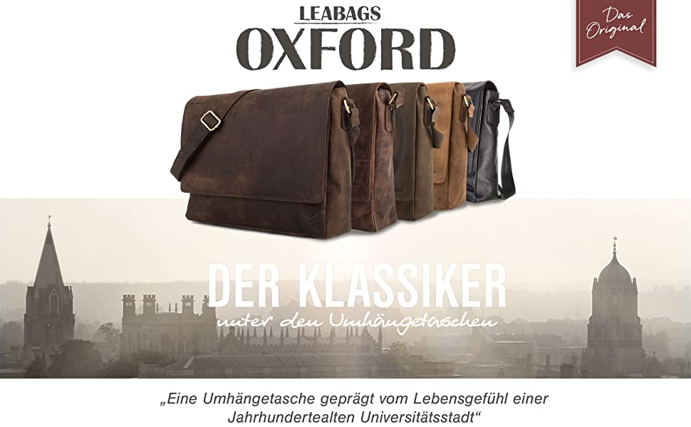 2a58000a873a7 LEABAGS Oxford Umhängetasche Laptoptasche 15 Zoll aus echtem Leder ...