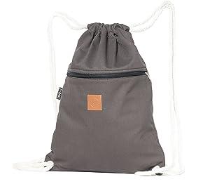 T-Bag Baumwoll Turnbeutel für Festival Grau