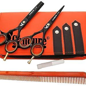 Salon de coiffure professionnel ciseaux de coiffeur