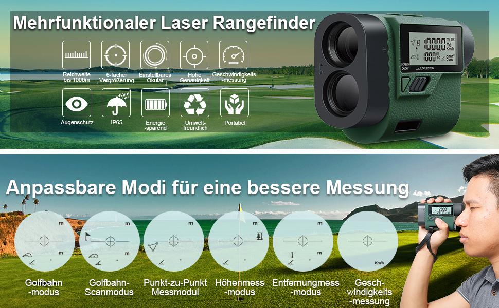Laser Entfernungsmesser Mit Winkelfunktion : Huepar hlr1000 golf entfernungsmesser 1000m 1100yards mit handheld