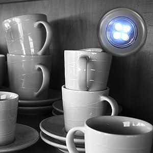 Eaxus 3x Led Lampe Touch Push Light Schrankleuchte Mit Je 4 Leds