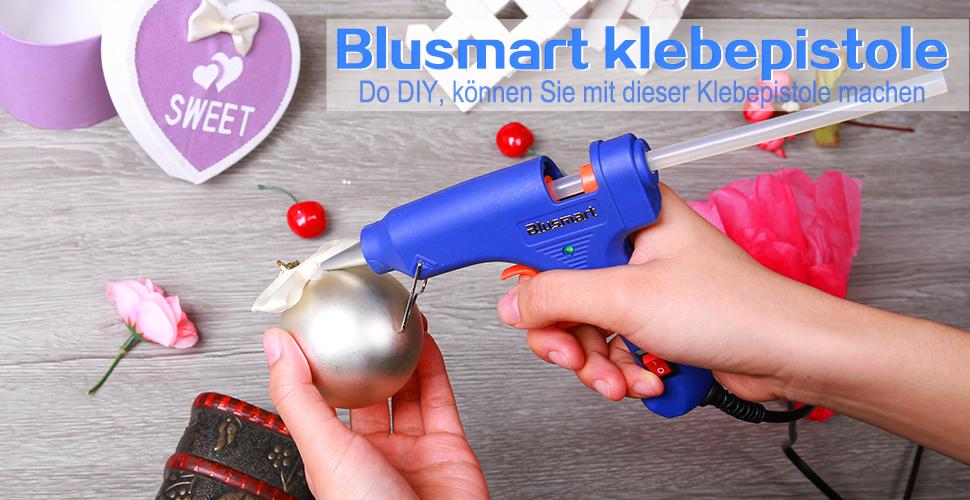 20 Watt, blau Blusmart GGC00030 30 pcs Verbesserte Version Mini klebepistole Kleber-Sticks