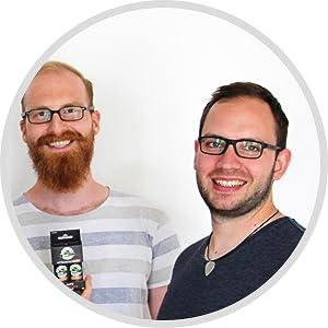 Teamfoto startup one47 gegen kater katermittel anti hangover drink Thilo und Torben