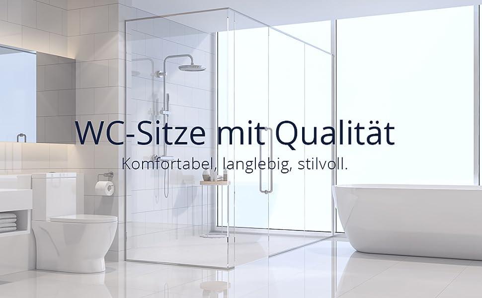 WC-Sitze mit Absenkautomatik weiss