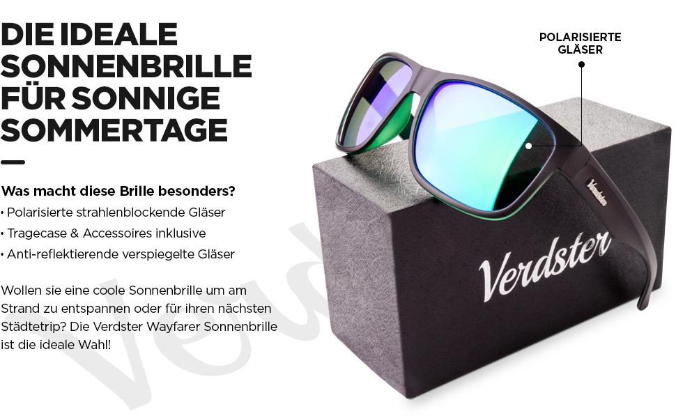 Polarisierte Sonnenbrille für Männer und Frauen