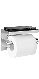 Toiletpapierhouder zonder boren.