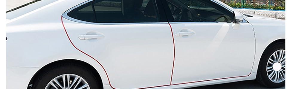LIOOBO 6 Mt Auto Auto T/ür Kantenschutz Anti Kratzfest Dichtleisten T/üren Formteile Klebstoff Kratzschutz Silber