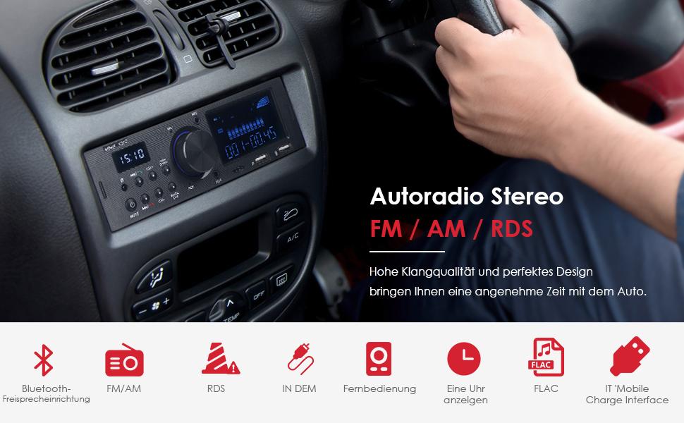 Iegeek Autoradio Mit Rds Bluetooth Freisprecheinrichtung Elektronik