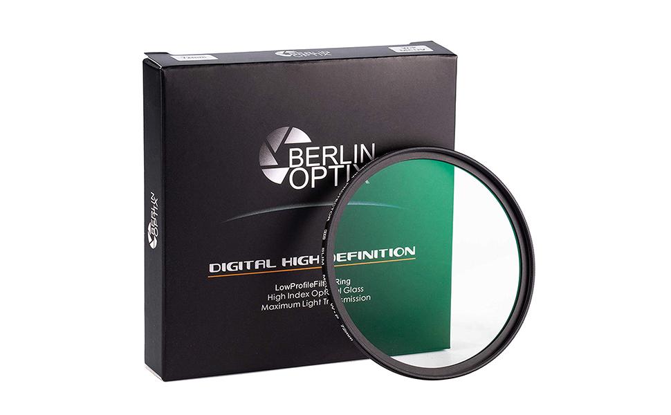 Berlin Optix Premium Uv Filter 58mm Schott Glas 16 Kamera