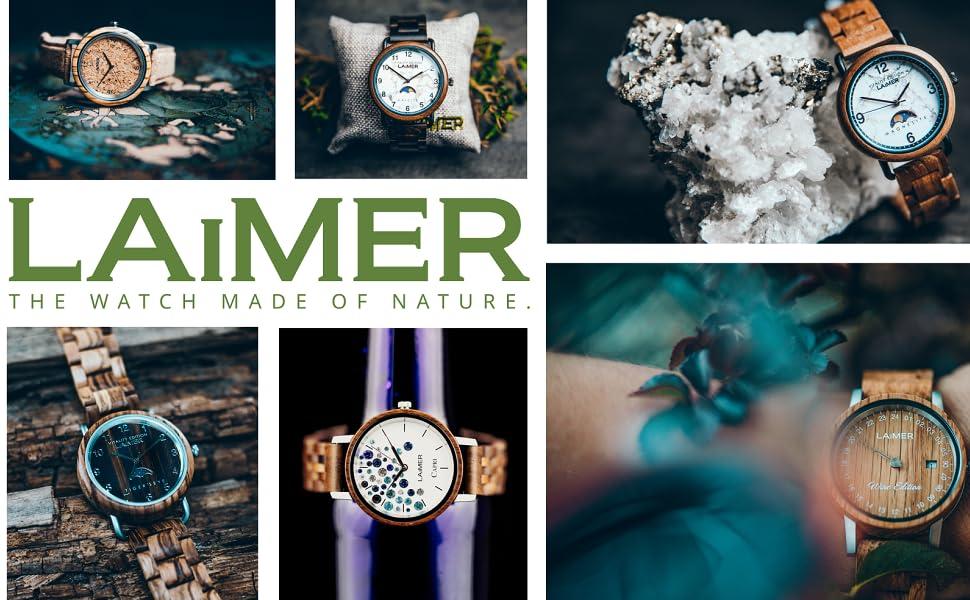 Laimer Armbanduhr Mod0063 Aus Herren Raúl Sandelholz 4R3A5jLq