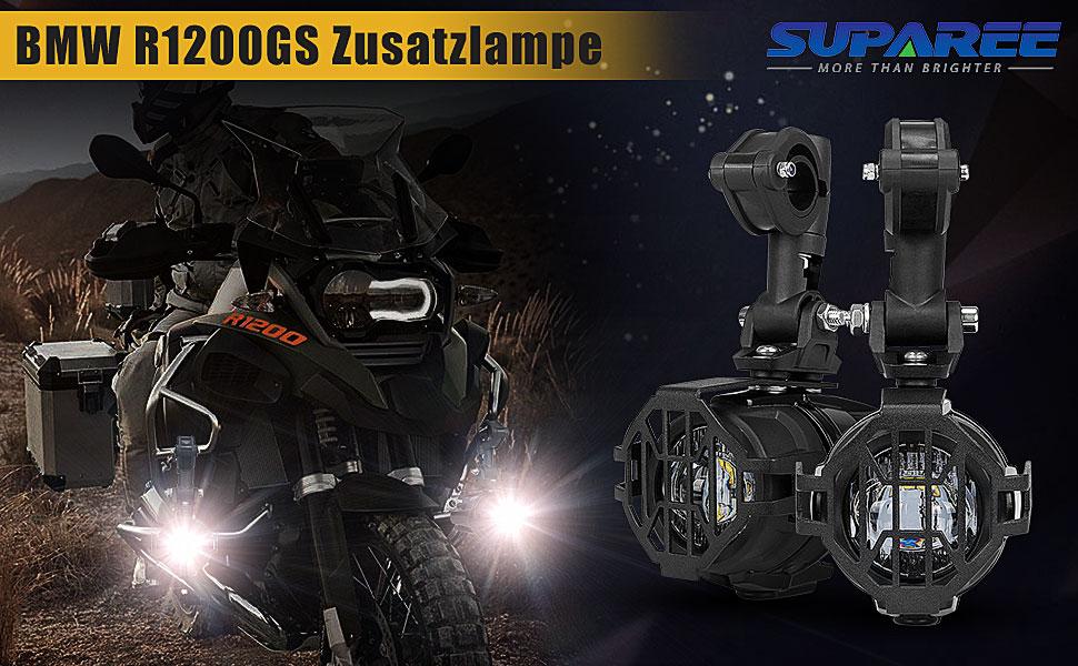 LED Zusatzscheinwerfer für Motorrad BMW R1200GS F800GS F650 LC ADV KTM 1190 1190R 1290